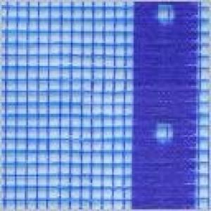 Gittergewebe blau, durchsichtig